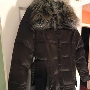 Brown goose feather coat
